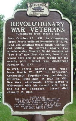 Revolutionary War Veterans Marker image. Click for full size.
