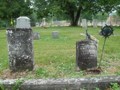 Mary and Israel Ferris Grave Markers image. Click for full size.
