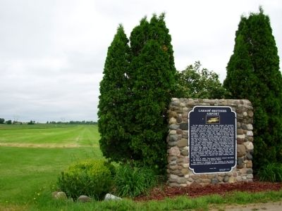 Larson Brothers Airport Marker and Landing Strip image. Click for full size.