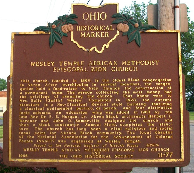 Wesley Temple AME Zion Church Marker