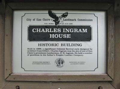 Charles Ingram House Marker image. Click for full size.