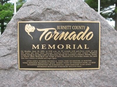 Burnett County Tornado Marker image. Click for full size.