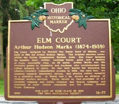 Elm Court Marker (Side A) image. Click for full size.