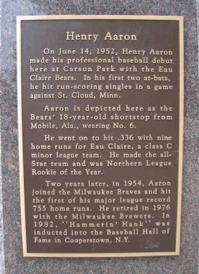 Henry Aaron Marker image. Click for full size.