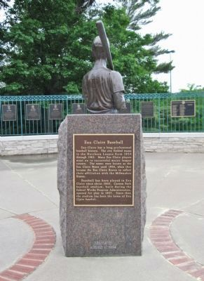 Henry Aaron / Eau Claire Baseball Marker image. Click for full size.