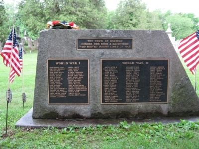 Roxbury Veterans Monument image. Click for full size.