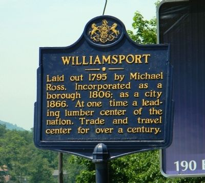 Williamsport Marker image. Click for full size.