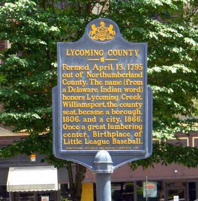 Lycoming County Marker image. Click for full size.