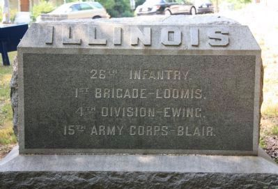 26th Illinois Infantry Marker image. Click for full size.