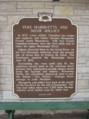 Pere Marquette and Sieur Jolliet Marker image. Click for full size.