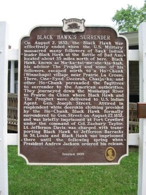 Black Hawk's Surrender Marker image. Click for full size.