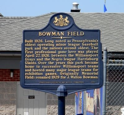 Bowman Field Marker image. Click for full size.