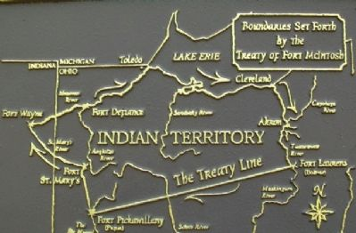 Treaty of Fort McIntosh Boundary Line Map on Marker image. Click for full size.