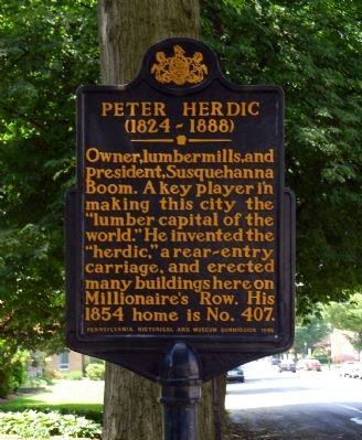 Peter Herdic Marker image. Click for full size.