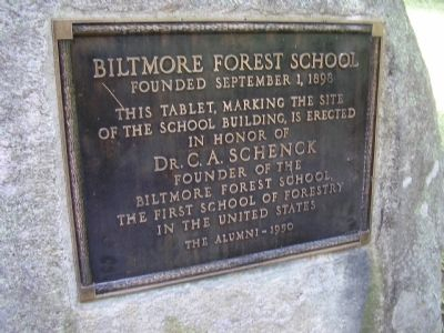 Biltmore Forest School Marker image. Click for full size.