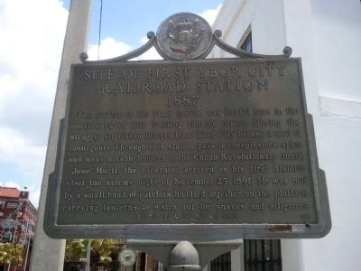 Site of First Ybor City Railroad Station Marker image. Click for full size.