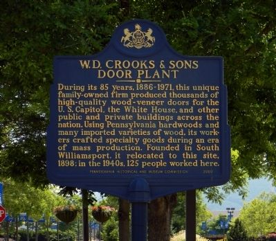 W.D. Crooks & Sons Door Plant Marker image. Click for full size.