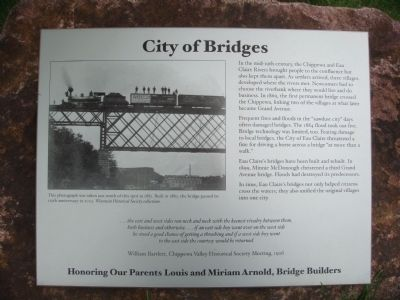 City of Bridges Marker image. Click for full size.
