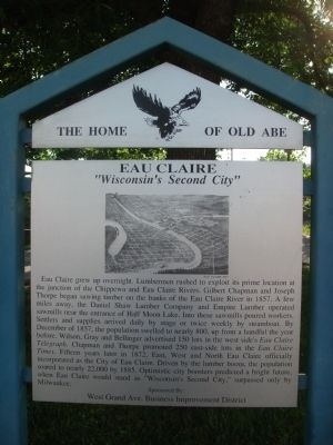 Eau Claire Marker image. Click for full size.