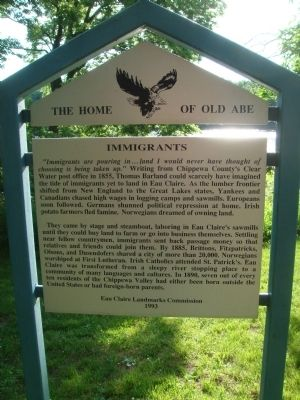Immigrants Marker image. Click for full size.