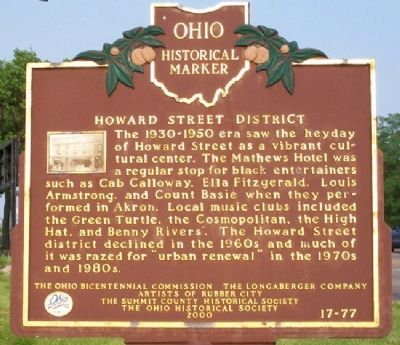Howard Street District Marker (Side B) image. Click for full size.