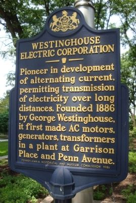 Westinghouse Electric Corporation Marker image. Click for full size.