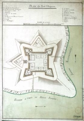 Fort Duquesne Plan Map image. Click for full size.