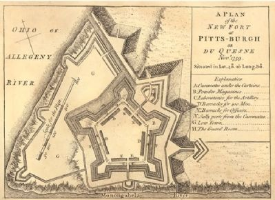 Plan of Fort Pitt image. Click for full size.