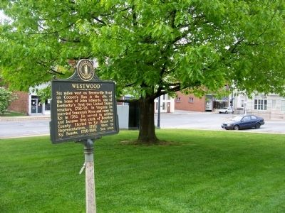 Westwood side of the marker with Main Street in background image. Click for full size.