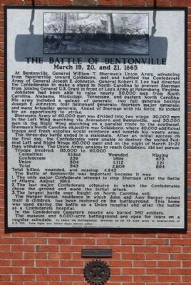 The Battle of Bentonville Marker duplicate at Rest Stop near Mile Marker 100- I-95 Southbound image. Click for full size.
