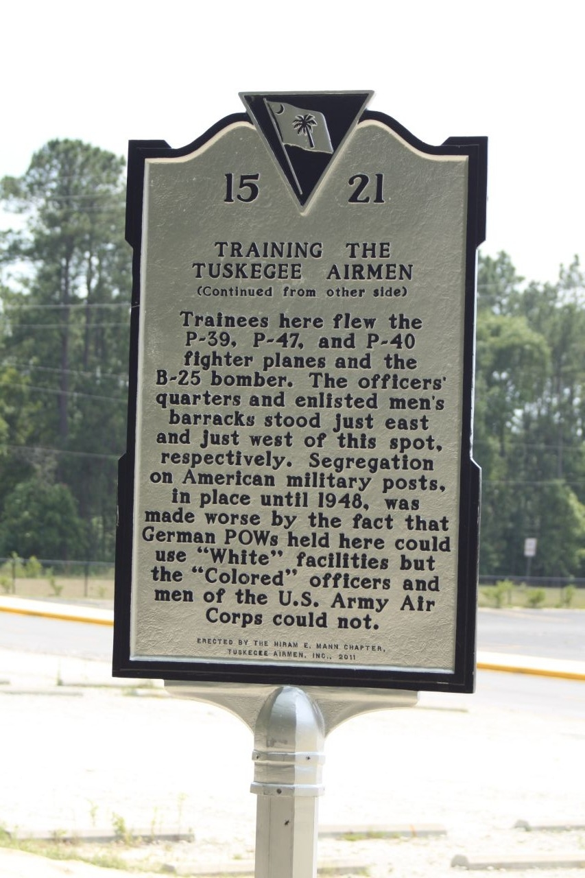Training the Tuskegee Airmen Marker, reverse side
