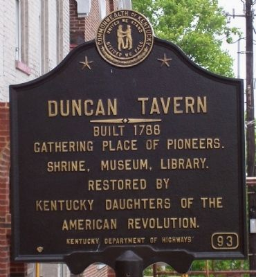 Duncan Tavern Marker image. Click for full size.