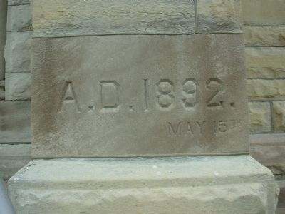 St. Michael's Roman Catholic Church Cornerstone image. Click for full size.