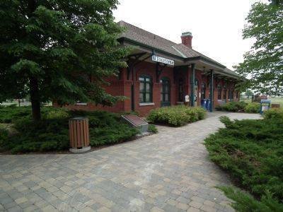 Former Grand Trunk Railway Station and Marker image. Click for full size.