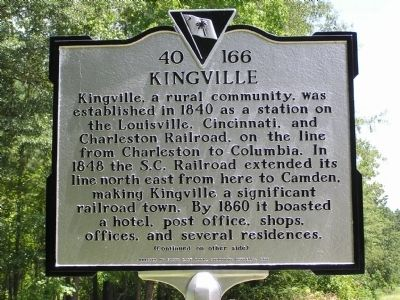 Kingville Marker image. Click for full size.