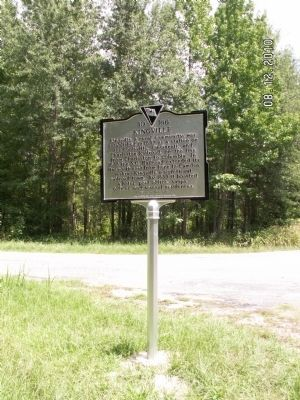 Kingville Marker, front image. Click for full size.