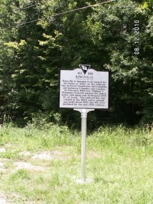 Kingville Marker, reverse image. Click for full size.