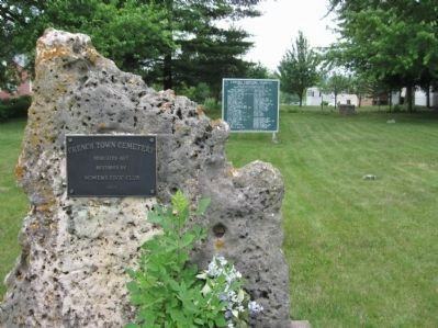 Old Frenchtown Cemetery and Marker image. Click for full size.