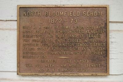 North Bloomfield School Marker image. Click for full size.