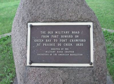 The Old Military Road Marker image. Click for full size.