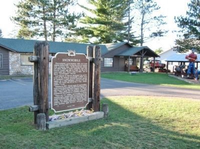 Snowmobile Marker and Vilas Historical Museum image. Click for full size.