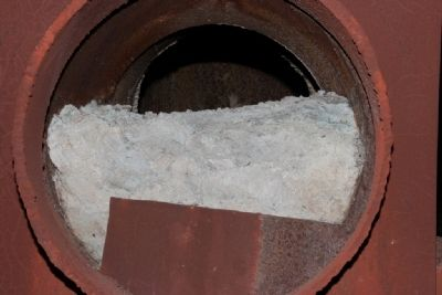 Dust Residue That Still Remains In A Pipe Of The Gas System image. Click for full size.