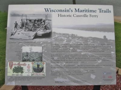 Historic Cassville Ferry Marker image. Click for full size.