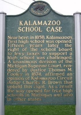 Kalamazoo School Case Marker image. Click for full size.