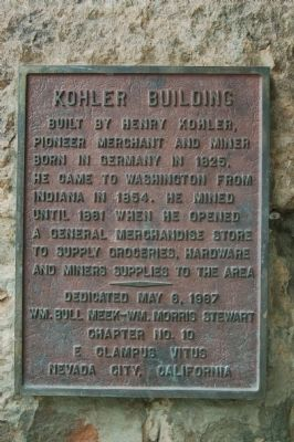 Kohler Building Marker image. Click for full size.