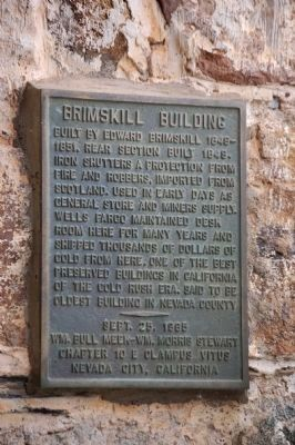 Brimskill Building Marker image. Click for full size.