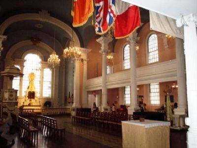 Inside St.Paul's Chapel image. Click for full size.