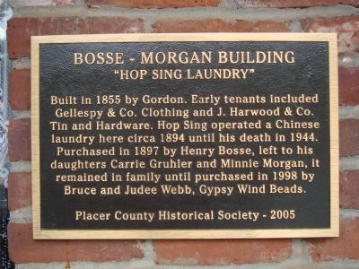 Bosse-Morgan Building Marker image. Click for full size.