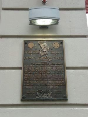 Ninth Regiment New York State Marker image. Click for full size.