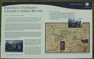 Dowden's Ordinary: A French & Indian War Site Marker image. Click for full size.